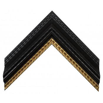 Деревянный багет Черный с золотом 23073086
