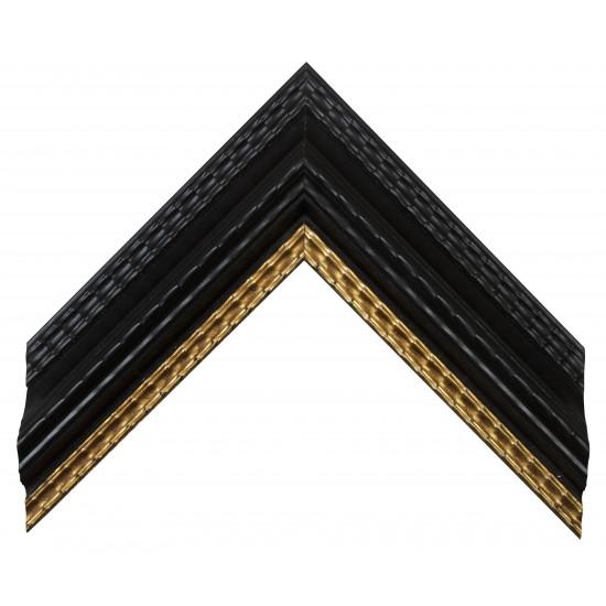 Деревянный багет Черный с золотом 23073086 в интернет-магазине ROSESTAR фото