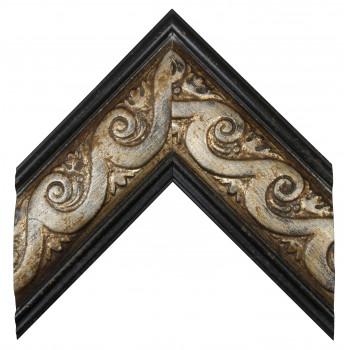 Деревянный багет Серебро 30643054
