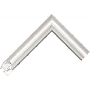 Алюминиевый багет серебро блестящий 48-11
