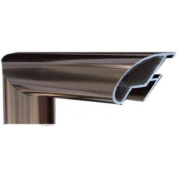 Алюминиевый багет светлая бронза блестящий 48-21