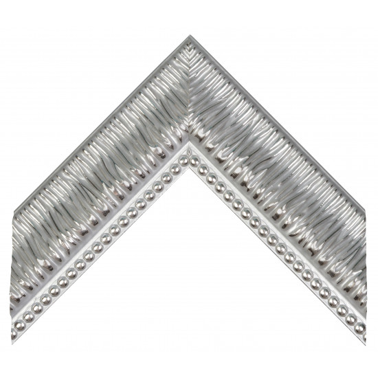 Пластиковый багет Серебро 527-1244 в интернет-магазине ROSESTAR фото