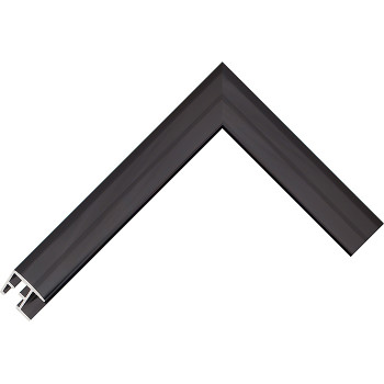 Алюминиевый багет черный глянцевый 68-26