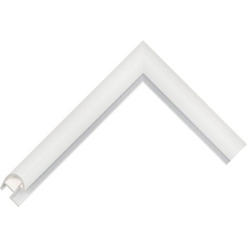 Алюминиевый багет белый глянцевый 87-102