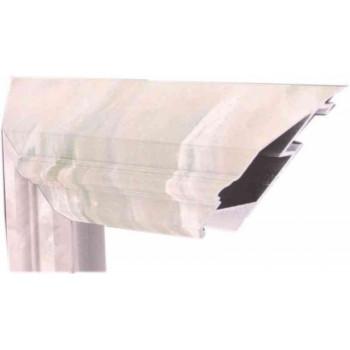 Алюминиевый багет дымчатый мрамор М1-502