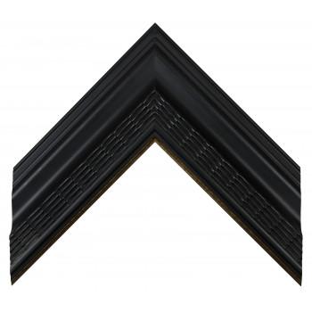 Деревянный багет Черный с золотом 23083086