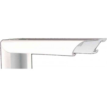 Алюминиевый багет белый глянцевый 43-102