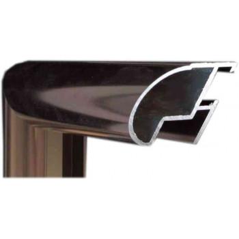 Алюминиевый багет темная бронза блестящий 48-22