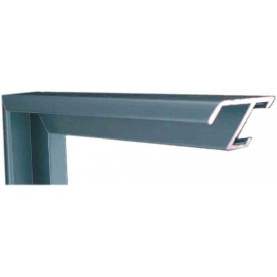 Алюминиевый багет голубое олово матовый 84-19 в интернет-магазине ROSESTAR фото