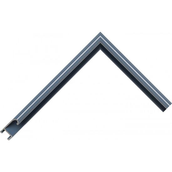 Алюминиевый багет голубой сланец блестящий 86-105 в интернет-магазине ROSESTAR фото