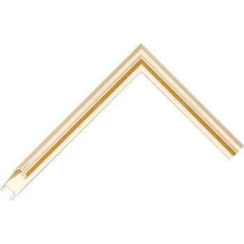 Алюминиевый багет светлое золото блестящий 86-28