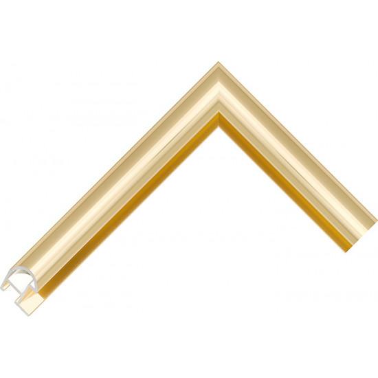 Алюминиевый багет золото блестящий 87-13 в интернет-магазине ROSESTAR фото
