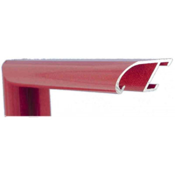 Алюминиевый багет красный оникс 89-202