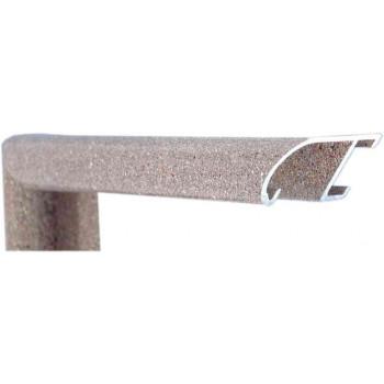 Алюминиевый багет коричневый гранит 89-212