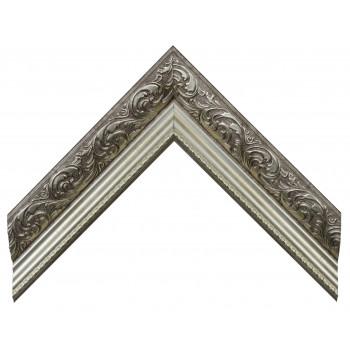 Пластиковый багет Серебро HA3-SVLA