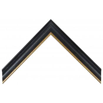 Деревянный багет Черный с золотом А-В110466