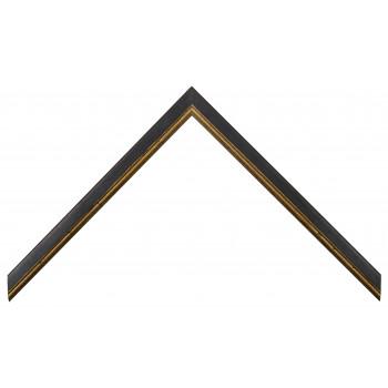 Деревянный багет Черный с золотом 15123086