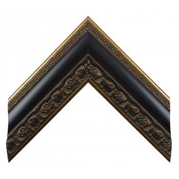 Пластиковый багет Черный с золотом 228-646