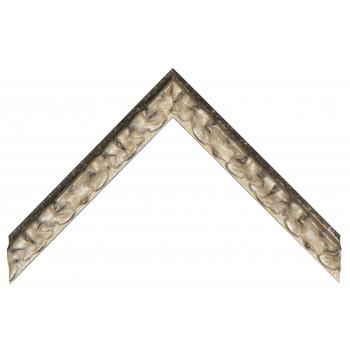 Деревянный багет Черный с серебром 355.43.075