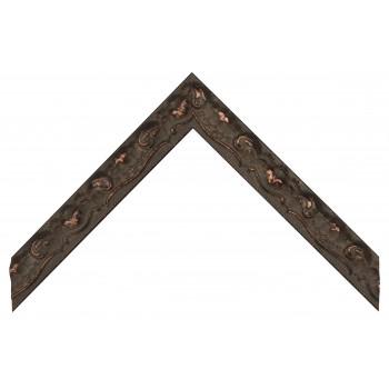 Деревянный багет Черный с золотом 369.44.073