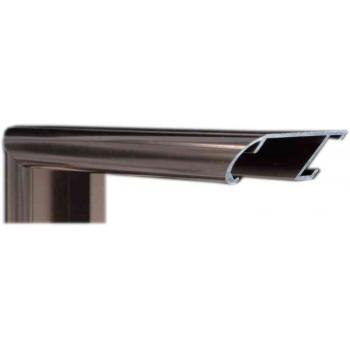 Алюминиевый багет темная бронза блестящий 43-22