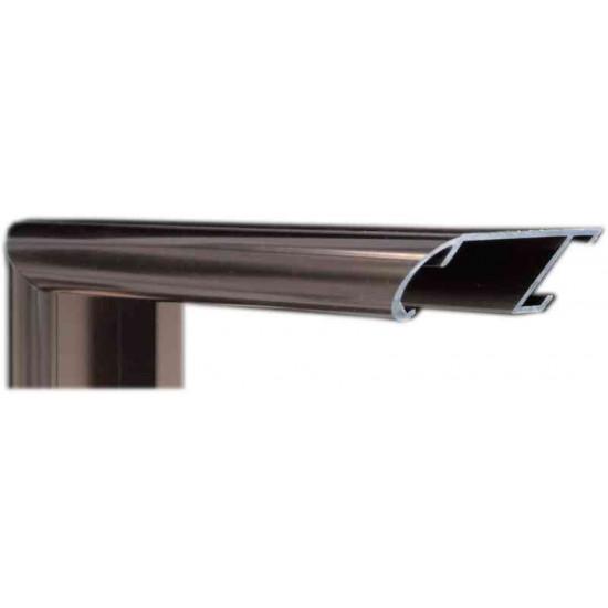 Алюминиевый багет темная бронза блестящий 43-22 в интернет-магазине ROSESTAR фото
