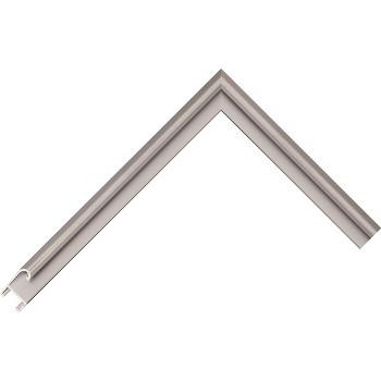 Алюминиевый багет серое олово матовый 85-17