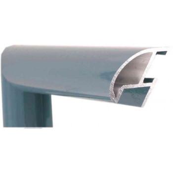 Алюминиевый багет голубой сланец блестящий 87-105