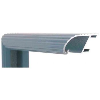 Алюминиевый багет голубой сланец блестящий 88-105