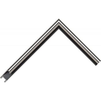 Алюминиевый багет серое олово матовый 915-17