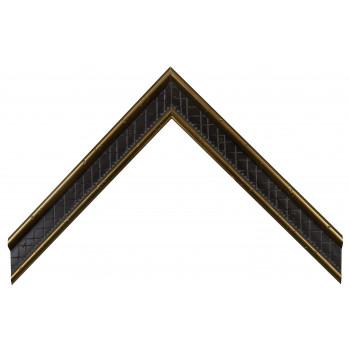Деревянный багет Золото А-В303602