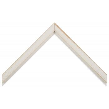 Деревянный багет Белый с бежевым протиром  017.33.053