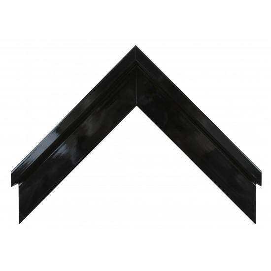 Деревянный багет Чёрный глянцевый 106.51.045 в интернет-магазине ROSESTAR фото