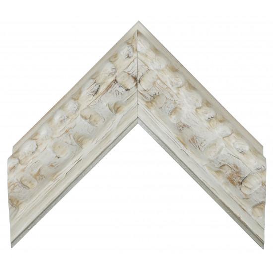 Деревянный багет Белый 14683003 в интернет-магазине ROSESTAR фото