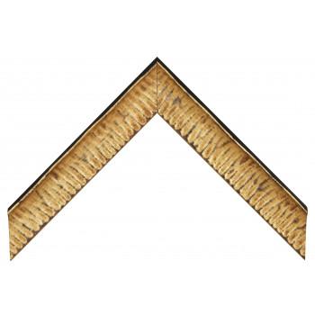 Деревянный багет Черный с золотом 237.54.031