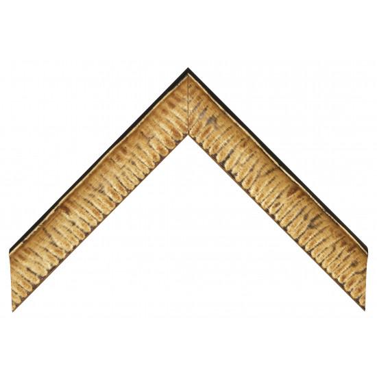 Деревянный багет Черный с золотом 237.54.031 в интернет-магазине ROSESTAR фото