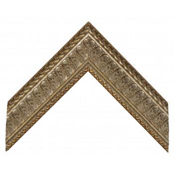 Деревянный багет Серебро, блестящий 312.64.044