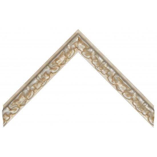 Деревянный багет Бежевый с серебром 355.43.192 в интернет-магазине ROSESTAR фото