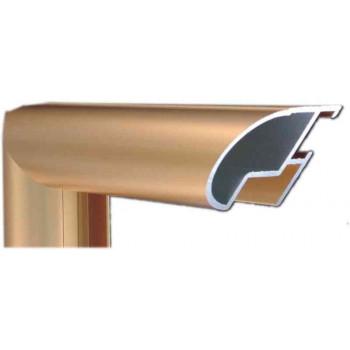 Алюминиевый багет золото матовый 48-14