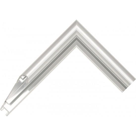 Алюминиевый багет серебро блестящий 58-11