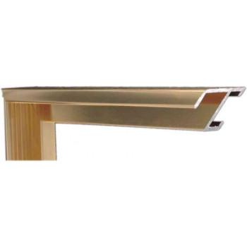 Алюминиевый багет светлое золото блестящий 84-28