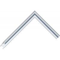 Алюминиевый багет голубое олово блестящий 85-18