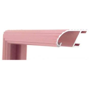Алюминиевый багет темно-розовый блестящий 88-107