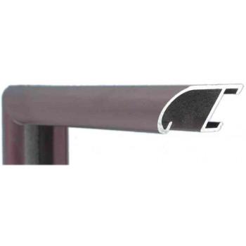 Алюминиевый багет темно-бордовый 89-307
