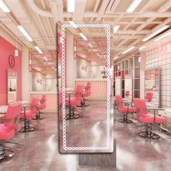 Зеркало для парикмахерской с подсветкой Аэлита