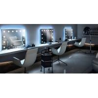 Зеркало для парикмахерской с подсветкой Колд