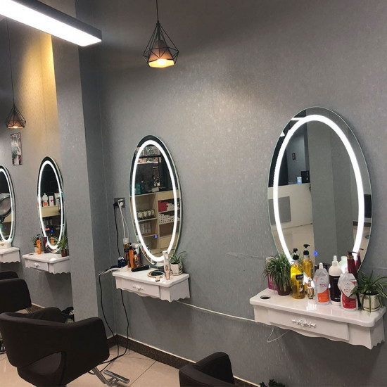 Овальное парикмахерское зеркало с подсветкой Мисс в интернет-магазине ROSESTAR фото