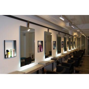 Парикмахерское зеркало с задней нижней подсветкой Найс
