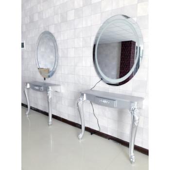 Овальное парикмахерское зеркало с подсветкой Тео