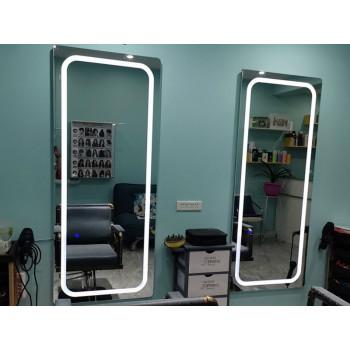 Зеркало для парикмахерской с подсветкой Визаж-3